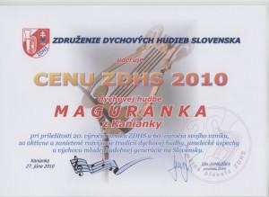 Cena ZDHS 2010 1