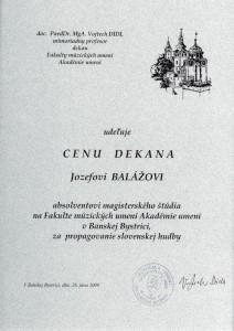 Cena dekana 2009