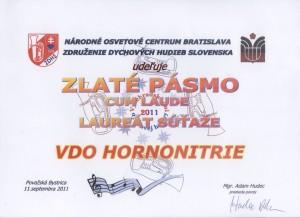 Diplom Laureá súťaže 2011