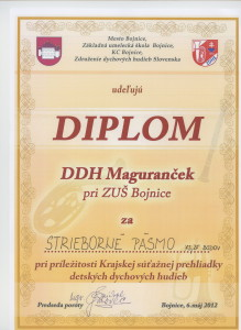 Diplom Maguranček 6.5.2012
