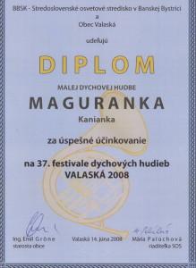 Diplom Valaská 2008
