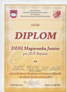 Diplom maguranka Junior 6.5.2012