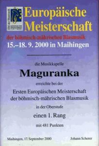 Ocenenie Majstrovstvá Európy v Nemecku