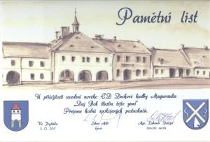 Pamätný list Fryšták, uvedenie CD 9 Maguranka2011