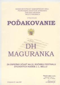 Poďakovanie Kremnica 27.5.2007